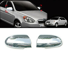Chrome Side Mirror Cover Garnish Molding LH RH For 06-10 Hyundai Accent : Verna