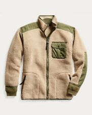 RRL Double RL Ralph Lauren Mountaineering Ripstop Paneled Fleece Jacket NWT - M