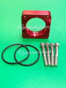 Red Vortex Flow Throttle Body Spacer Fit 91-94 95-98 NISSAN 240 SX 2.4L 240SX