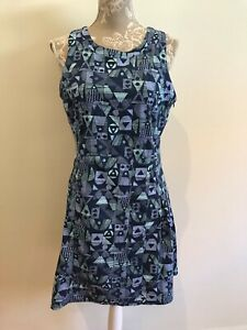 Leonard St blue printed dress. Size 12 (best for a 10)