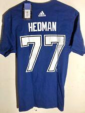 adidas  NHL T-Shirt Tampa Bay Lightning Victor Hedman Blue sz L
