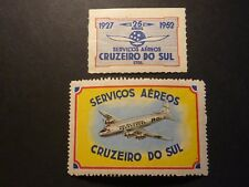 Brazil air labels, Servicos Aereos Cruzeiro Do Sol, mint never hinged