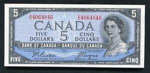 "BC-31b 1954 $5 FIVE DOLLARS BANK OF CANADA BANKNOTE ""DEVIL'S FACE"" GEM UNC"
