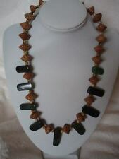 Handcrafted Jasper and Palm Wood Necklace