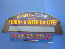Cash for Life Ca$h for Life Slot Machine Casino Glass Topper - Great Deal!