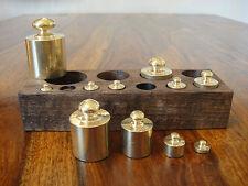 11 Gewichte Set Messing für Waage Feinwaage Goldwaage Ladenwaage Gewichtssatz