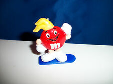 M&M Winter Sport Red Snowboarder Figure M&Ms Snowboarding French Pocket Surprise