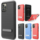 For Alcatel Apprise/Glimpse Hybrid Magnetic Kickstand Case Cover+TemperedGlass