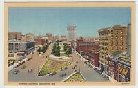 Unused Postcard Preston Gardens Baltimore Maryland MD
