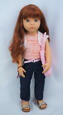"Gotz doll Happy kidz Clara red hair and grey eyes 19"""