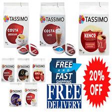 TASSIMO Costa Kenco Americano Latte Espresso Coffee Pack of 5 Variety Pack Box