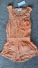Shakuhachi Orange w elastic waist brass fittings romper sz10 BNWT free post E26