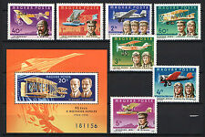 TWO IN ONE - HUNGARY 1978. AVIATION - FLYING SET + SHEET GARNITURE MNH