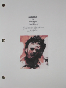 The Texas Chain Saw Massacre Signed Film Movie Script Gunnar Hansen Horror repnt