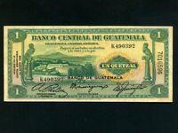 Guatemala:P-20,1 Quetzal ,1946 * Quetzal Bird * Hacienda * VF-EF *