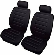 FORD TRANSIT CONNECT (02-14) LEATHER LOOK BLACK VAN SEAT COVERS SINGLE 1+1