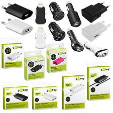 Dual Ladegerät Netzteil Stecker iPhone Samsung HTC LG Sony Netzstecker 1A 2A USB