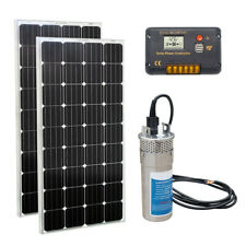 DC 24V Deep Well Stainless Water Pump + 240W Mono Solar Panel + 20A Controller