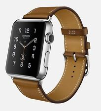BRAND NEW Apple Hermes Watch 38mm Stainless Brown Fauve Leather Single Tour