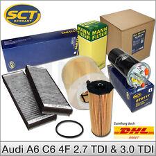 Filtersatz Filterset Inspektionspaket SCT & MANN   Audi A6 C6 4F 2.7 3.0 TDI