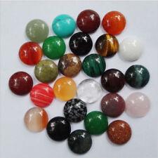 Wholesale 50pcs 12*12mm natural gemstone mixed round CAB CABOCHON stones beads