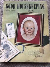 Vintage GOOD HOUSEKEEPING Magazine January 1949 Health Beauty Fashion Ads