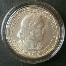1893 50c Columbian Expo Chicago Commemorative Silver Half Dollar in Capsule