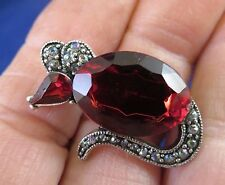 Glass Head & Body (776) Darling Marcasite Mouse w Red