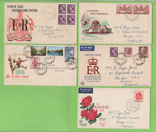 Australia - 1950's Collection of five First Day Covers