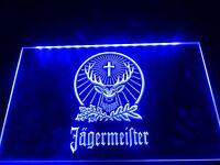 LED Jagermeister Neon Light Club Home Beer Advertise Sign Bar Pub Decor Men Gift