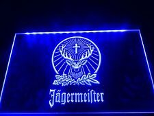 LED Jagermeister Neon Light Club Home Beer Advertise Sign Bar Pub Decor Men Gift