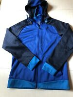 Mens Blue Nike Thermal Hooded Zip Up Jacket Size Small