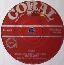 """BOB GRABEAU-GOLD/LU LE LA """"RARE OZ"""" 45 RPM"""