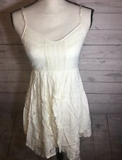 American Eagle Outfitters Sz 4 Lace Ivory Off White Dress Womens Boho Holiday