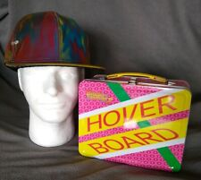 Back To The Future Marty McFly Cap And Hoverboard Tin Lunch Box New