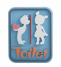 Toilet Vintage Wooden Bathroom Decor Signs Cute Lavatory Lovely Kids Home Gift