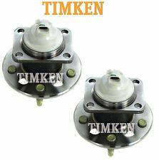 For Buick Chevy Pontiac FWD Pair Set Rear Wheel Bearings & Hubs Timken HA590092