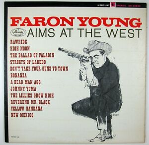 FARON YOUNG Faron Young Aims At The West LP 1963 COUNTRY NM- NM-