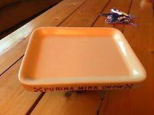 Vintage Purina Mink Chow Feed Dish Plate Advertising USA Pottery