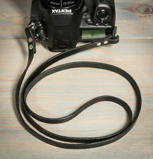44in Hand made Black leather, double riveted, camera strap