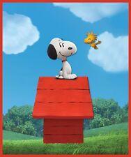 Peanuts Movie Snoopy Woodstock Dog House Charlie Brown Blanket Plush Throw NEW