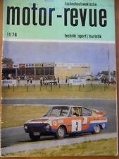 Tschechoslowakische MOTOR REVUE  11 - 1976 Jawa 350 Skoda Auto Cross