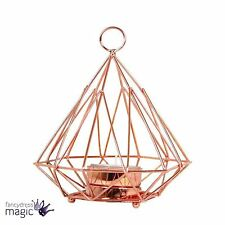Copper Crush Pyramid Geometric Candle Holder Wall Hanging Standing Home Gift