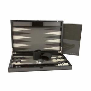 Dal Rossi Carbon Fibre Finish 18 Backgammon Set NEW