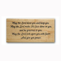 May the Lord bless you & keep you Mounted rubber stamp, bible verse blessing #23