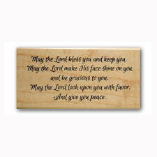 May the Lord bless  you & keep you Mounted rubber stamp bible verse blessing #23