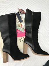 BNWOT Mister Zimi Black Fern Leather Boots Size 38 RRP $220