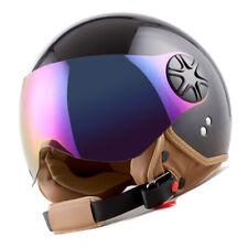 New 1Storm DOT Motorcycle Scooter Bike Open Face 3/4 Helmet Glossy Black