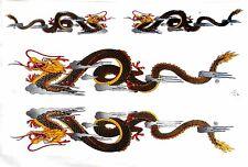 4 AUFKLEBER Sticker DRACHE Drachen Dragon China Bogen =26x17 cm