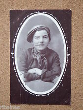 R&L Postcard: 1909 Portrait of Boy/Young Man in Flat Cap Yorkshire Working Class